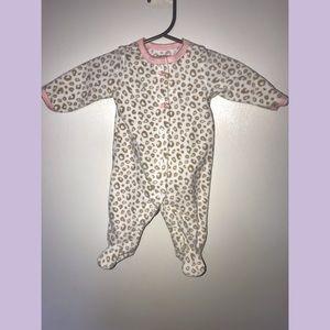 Carter's baby girl cheetah print sleeper